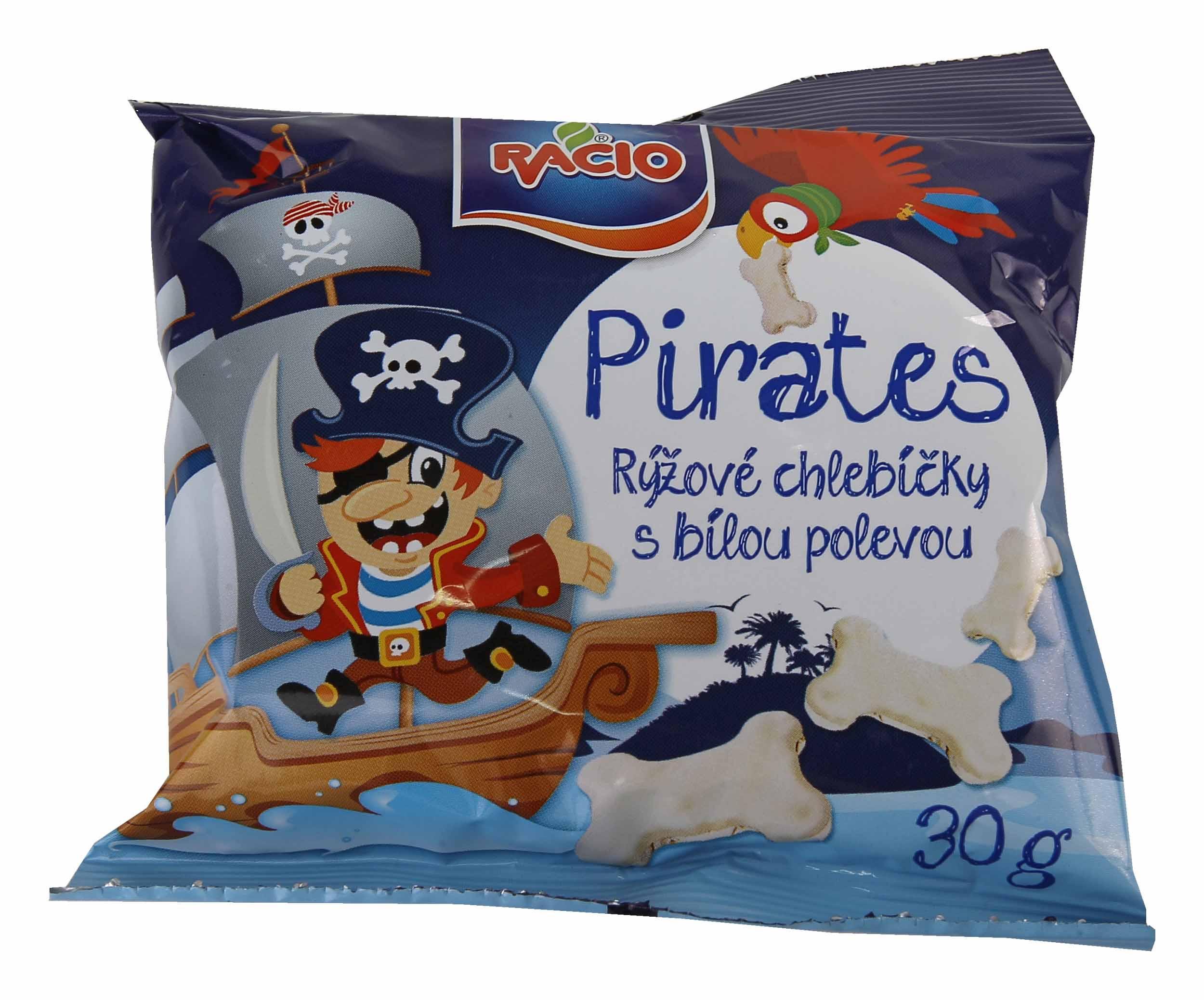 RACIO Pirates Rýžové chlebíčky sbílou polevou jogurt.příchuť 30g bez lepku