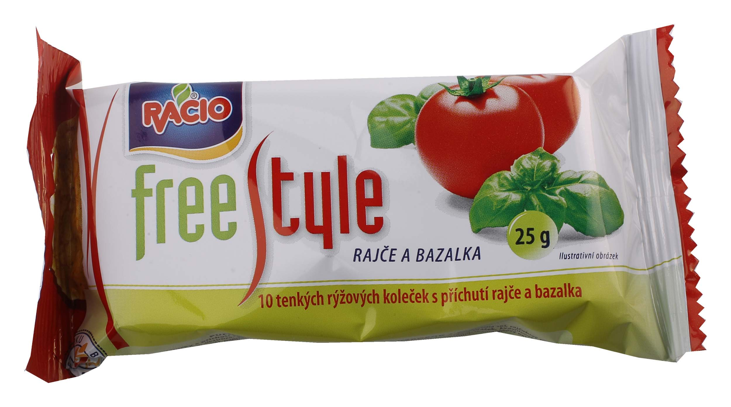 RACIO Free style rýž.chlebíčky rajče abazalka 25g bez lepku