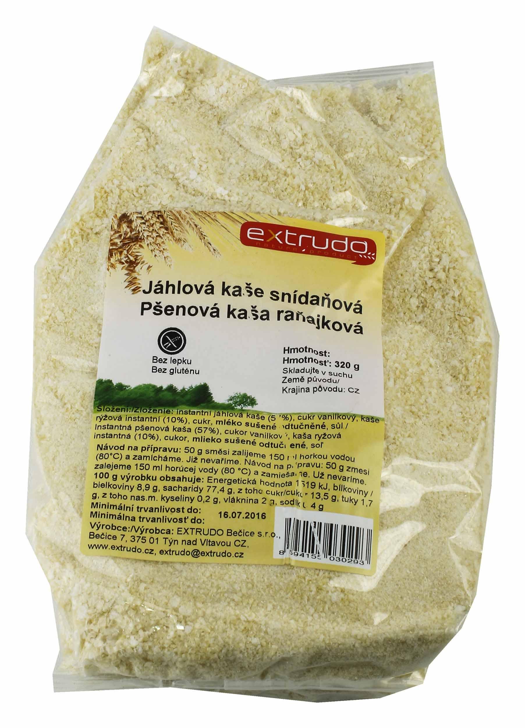 Kaše Jáhlová snídaňová 320 g bez lepku