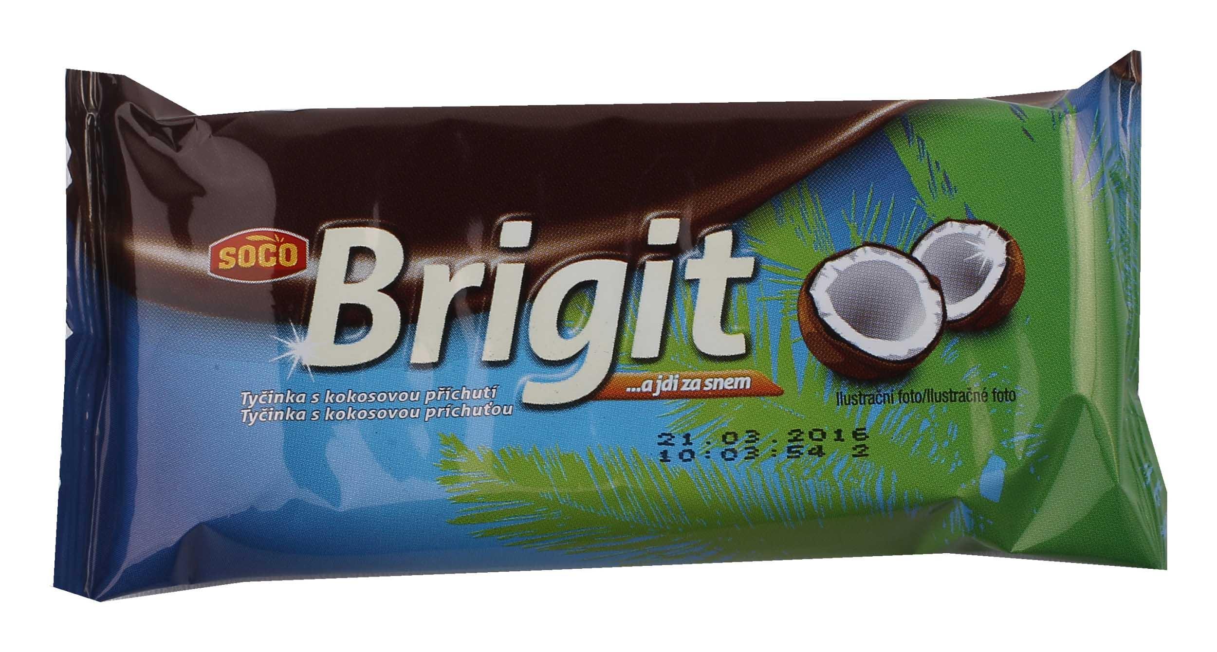 Brigit – tyčinka skokosovou příchutí 90g bez lepku