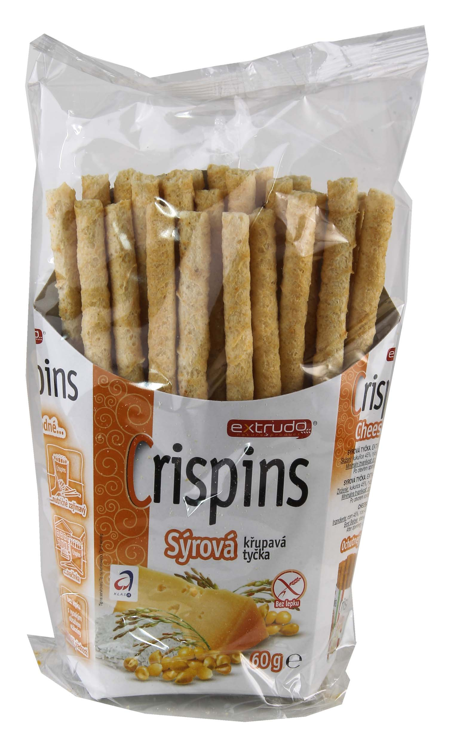 Crispins tyčka sýr 60g bez lepku