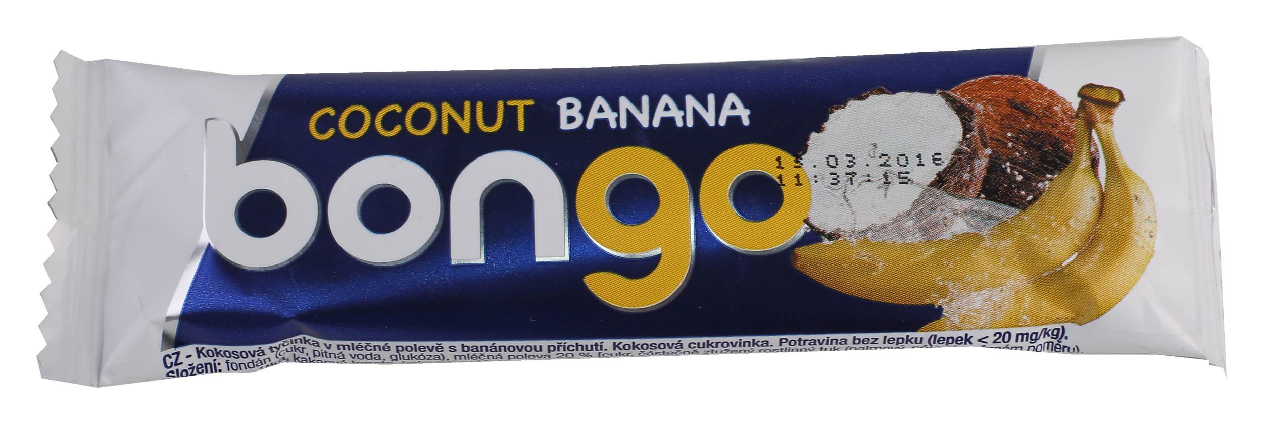 Bongo banánová příchuť kokos.tyčinka vml.polevě 40g bez lepku