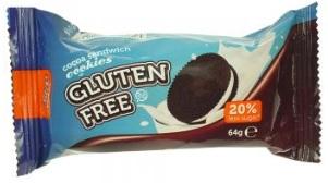 * Slepované kakaové sušenky se smet. náplní 64g bez lepku